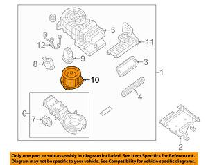 nissan oem blower motor 273753ka0a ebay. Black Bedroom Furniture Sets. Home Design Ideas
