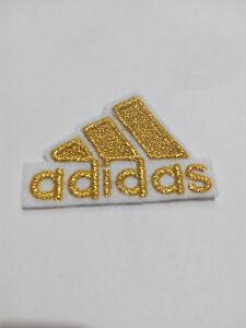 Portero Influencia Telégrafo  Parche bordado para Pegar estilo Adidas Dorado 4,5/3,5 cm adorno ropa   eBay