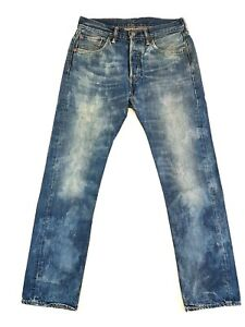 Levis-501-Enzyme-Washed-Blue-Denim-Jeans-Size-29-X-30-Mens