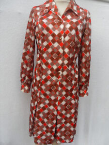 VINTAGE-1960s-70s-ABSTRACT-GEOMETRIC-PRINT-DRESS-MOD-SECRETARY-RETRO