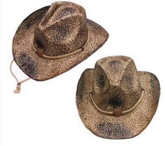 2 DELUXE COWBOY HAT BLACK CURL UP SIDES western caps mens womens hats cowgirl