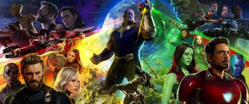 "Avengers Infinity War Poster 76x32/"" 57x24/"" Guardians Captain America Iron Silk"