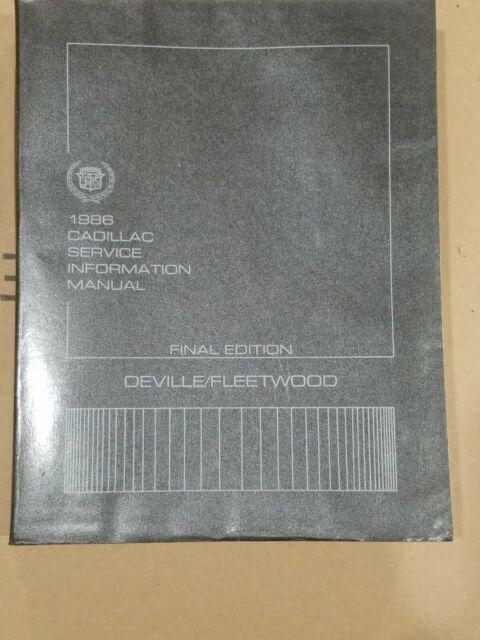 1986 Cadillac Deville   Fleetwood Shop Service Repair