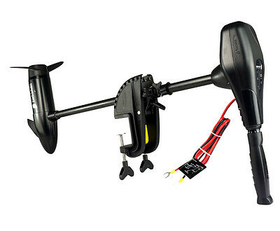 "55lb Thrust Transom Mounted Saltwater Electric Trolling Motor with 30"" Shaft"