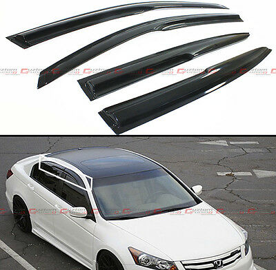 2008-12 8TH GEN HONDA ACCORD SEDAN JDM 3D WAVY SMOKE WINDOW VISOR RAIN/SUN GUARD