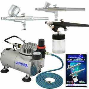 Master Airbrush KIT-SP2-20 Kit with Compressor and Air Filter/Regulator