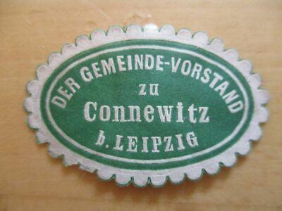 Siegelmarke Leipzig PüNktliches Timing Gemeinde-vorstand Zu Connewitz B 21105
