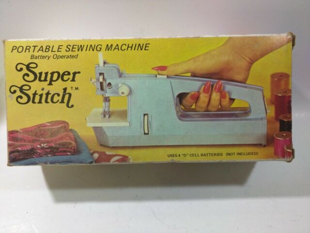Super Stitch Portable Sewing Machine EBay Unique Super Stitch Sewing Machines