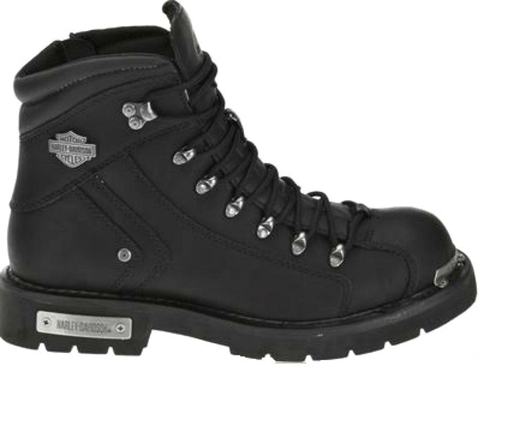 Harley-Davidson® Men's Electron Black Leather Motorcycle Biker Boots D96017