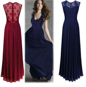 Women-Ladies-Bridesmaid-Dresses-Cocktail-Long-Chiffon-Prom-Gowns-Evening-Party