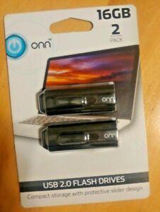 ONN USB 2.0 FLASH DRIVE, 16 GB, 2 PACK