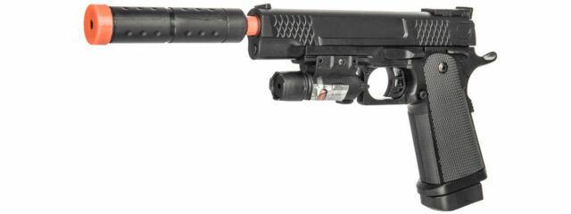Uk Arms P2002c Spring Pistol Airsoft Gun W Laser Mock Suppressor 30946 For Sale Online Ebay