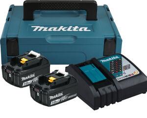Makita Power Source Kit 197952-5 Akku Set 2x 18 V / 3,0 Ah + Ladegerät + MakPac1