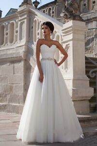 NEW-White-Ivory-Wedding-Dress-Bridal-Gown-Proms-Party-DEB-Evening-Ball-Pageant