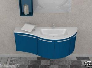 Vasca Da Bagno Mobile : Mobile da bagno curvo w702 l.140 laccato top vasca integrata