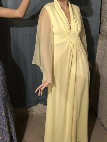 Vintage Evening Gown With Chiffon Sleeve