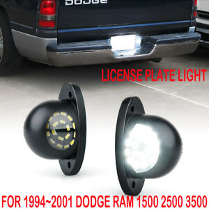 2X Full LED License Plate Light Lamp For 1994-2001 Dodge RAM 1500 2500 3500 EOA