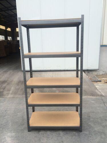 Heavy Duty 5 Tier Garage Shelving Unit Shed Storage Shelves Boltless Metal Racks