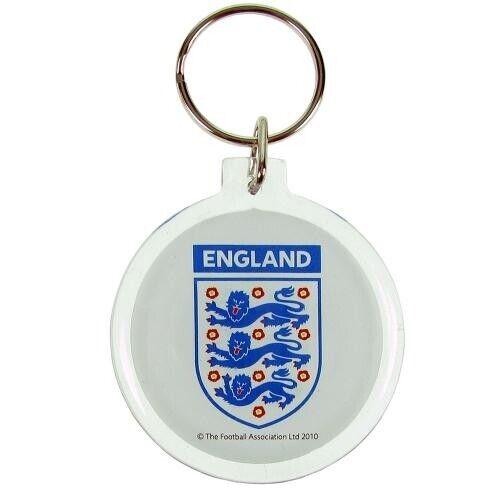 England FA Football Team Official Round Acrylic Keyring Badge Crest Three Lions