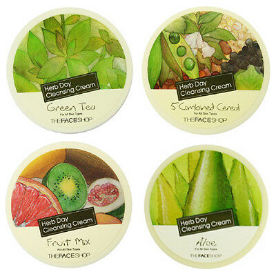 [THE FACE SHOP] Herb Day Cleansing Cream (4Types, Pick one) - Korea Cosmetic