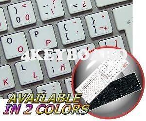 MAC ENGLISH SPANISH LATIN AMERICAN KEY STICKER BLACK