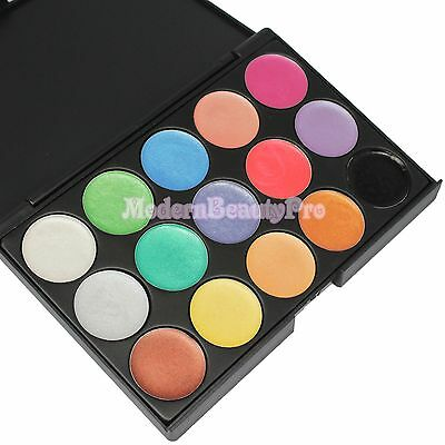 Pro 15 Color Cosmetic Makeup Eye Shadow Cream Eyeshadow Palette YG15 HOT