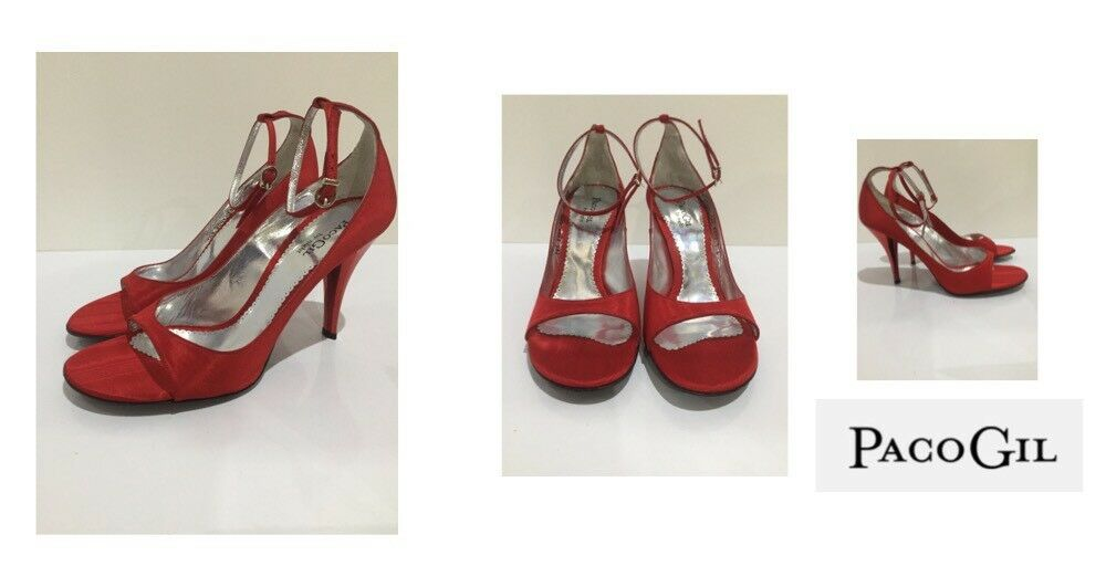 Ladies Heeled Shoes PacoGil By Night Moire / Red Size Eu 39.5 / Moire 390569