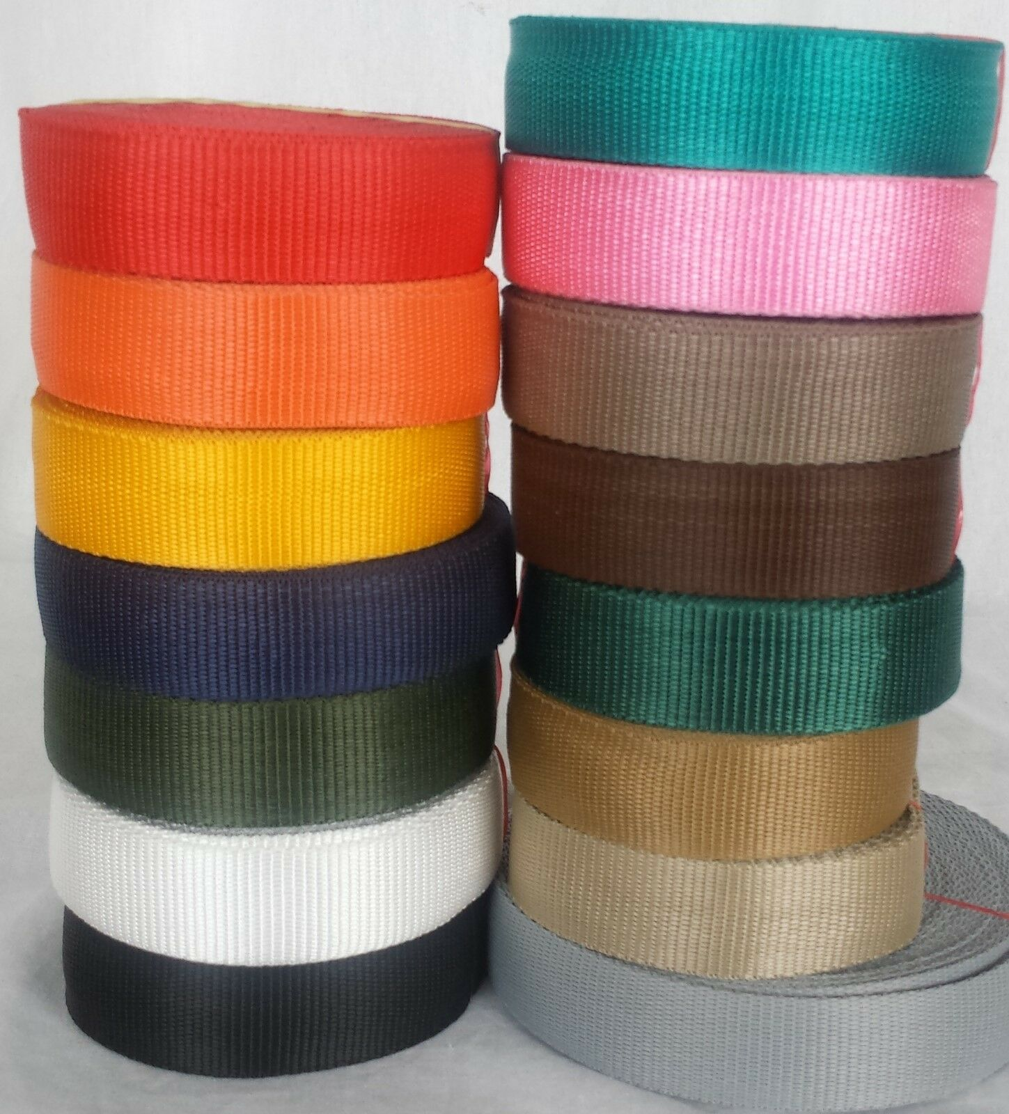 Nylon Webbing Tape 19mm For Making DIY Craft Backpack Strapping Apron Bunting