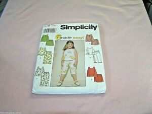 Simplicity-Pattern-8676-Girls-Top-Pant-Shorts-Size-BB-5-6-6X-Sewing-Sew
