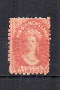 Australia-Tasmania-1864-69-1d-Rojo-Ladrillo-MLH