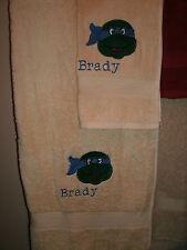TMNT Personalized 2 Piece Bath & Hand Towel Set Ninja Turtle Face TMNT Any Color