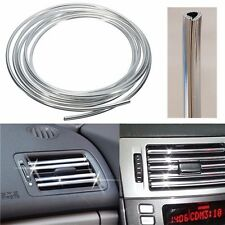 Silver Car Interior Decor Door Vent Chrome Moulding Trim Strip U Style 4M