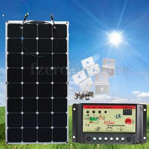 100W-18v-Energy-Semi-Flexible-Solar-Panel-12V-24V-10A-Solar-Controller-Brackets