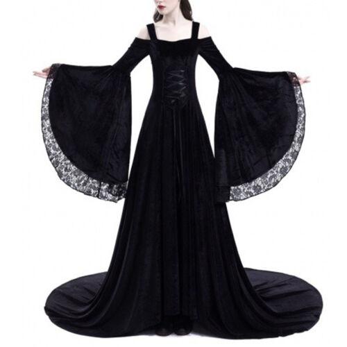 Medieval Renaissance Elegant Women Dress Shoulderless Queen Gown Cosplay Dress