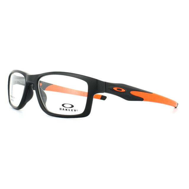 13569487ab3 Oakley Glasses Frames Crosslink Trubridge OX8090-01 Satin Black 55mm Mens