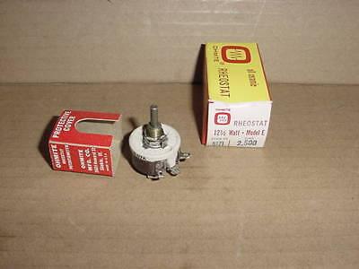OHMITE Model K RHEOSTAT 100 Watt 2500 OHMS
