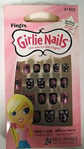 Girlie-Nails-Skulls-amp-Hearts-31403-Stick-On-Nails-Nails-for-Halloween