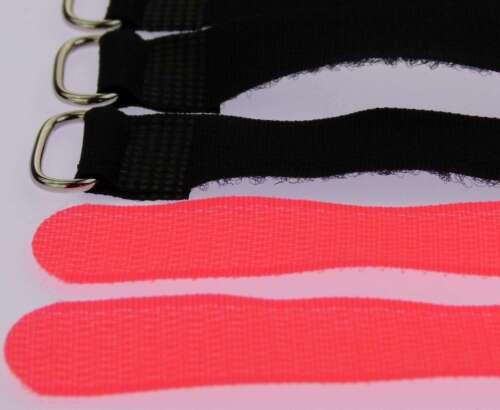 50 x Kabelklettband 30 cm x 20 mm neon rot Klettband Klett Kabel Binder Band Öse