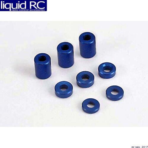 // 3x6x8mm 3 // 3x6x1.5mm Traxxas 4829 Blue-anodized aluminum spacers 2
