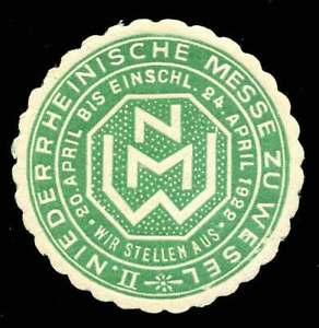 Ponctuel Allemagne Poster Stamp - 1922-wesel-lettre Sceau Style Exposition Timbre-afficher Le Titre D'origine Pour Effacer L'Ennui Et éTancher La Soif