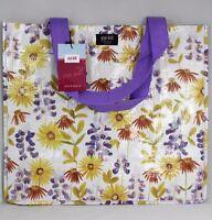 Gigi Hill 'spring Into Fun' Flowerd Grocery Tote Reusable Designer Bag