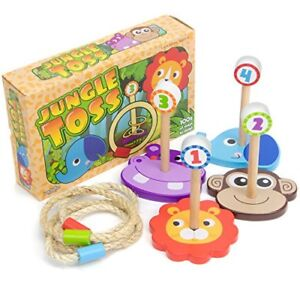 Jungle-Ring-Toss-Fun-Wooden-Family-Game-Indoor-Outdoor
