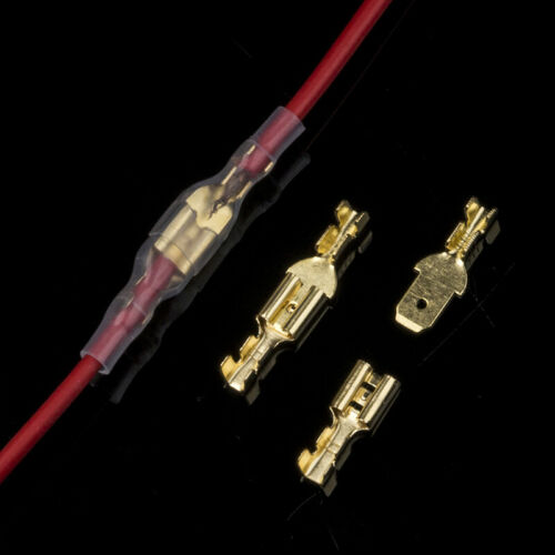 450 stk Kabelschuhe Steckverbinder Sortiment Quetschverbinder Flachstecker Box