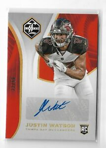 2018-Panini-Limited-Football-Rookie-Autograph-Gold-Parallel-Justin-Watson-RC-50