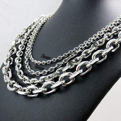 Fashion Silver Stainless Steel 3//5mm Bulk Of Factory Wholesale Round Rolo Chains