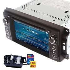2Din GPS Navigation Radio Car Stereo DVD Player for Chrysler/Jeep/Dodge+Camera
