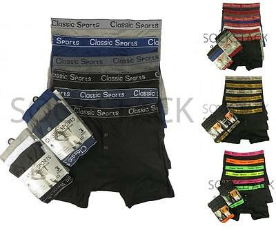 12 Pairs Men's Boxer Shorts, Designer Fashion Band  Boxers Underwear, S M L XL