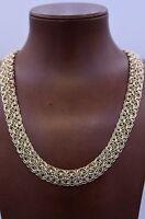 Technibond Interlocked Railroad Bracelet 14k Yellow Gold Clad Sterling Silver