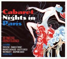 CABARET NIGHTS IN PARIS - 40 FRENCH CLASSICS - VARIOUS ARTISTS  (NEW SEALED 2CD)