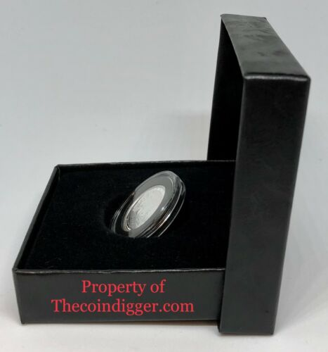 Model A 17mm Capsule 1//10oz Gold Eagle Black Gift Box Coin Holder Display Case
